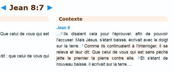 Bible Jean 8